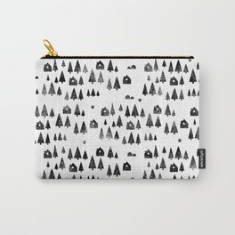 House Trees Pattern Carry-All Pouch