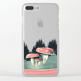 Fishing for Mushrooms Clear iPhone Case
