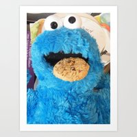 cookie monster Art Prints featuring Cookie by rosscaughersphotography