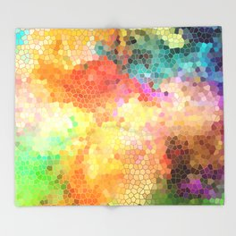 Rainbow Sherbert Throw Blanket