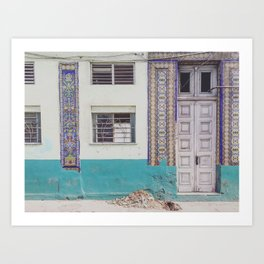 Havana Street, Cuba  Art Print