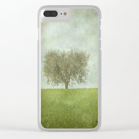 The Lone Olive Tree Clear iPhone Case