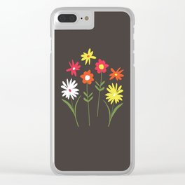simple bright flowers Clear iPhone Case