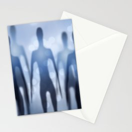 Tall Grey Men Stationery Cards