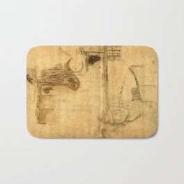 Map Of The Bowery 1760 Bath Mat