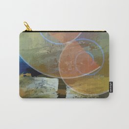 Orange,Yellow & Blue Minimal Art Carry-All Pouch