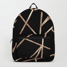 Classic Black Rose Gold Geo #1 #geometric #decor #art #society6 Backpack