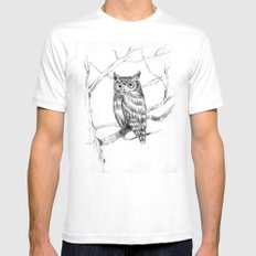 Mr. Owl Mens Fitted Tee White MEDIUM