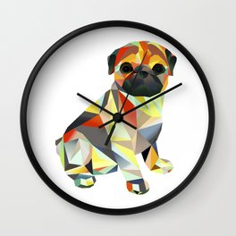 Molly Mops Pug Wall Clock