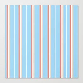 Blue Stripe Pattern Canvas Print