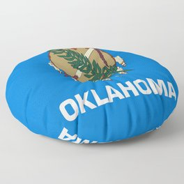 flag of oklahoma-Oklahoma,south,Oklahoman,Okie, usa,america,Tulsa,Norman,Broken Arrow Floor Pillow