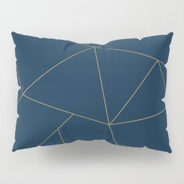Golden Crystal Web Pattern Pillow Sham