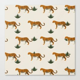Big Cat Pattern Canvas Print