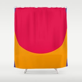 Cilindric Cartilage of someone, don't know who. Purple Background. Shower Curtain