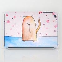 polkadot iPad Cases featuring Polkadot Cat by Jessy Belanger