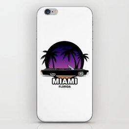 Miami muscle car iPhone Skin