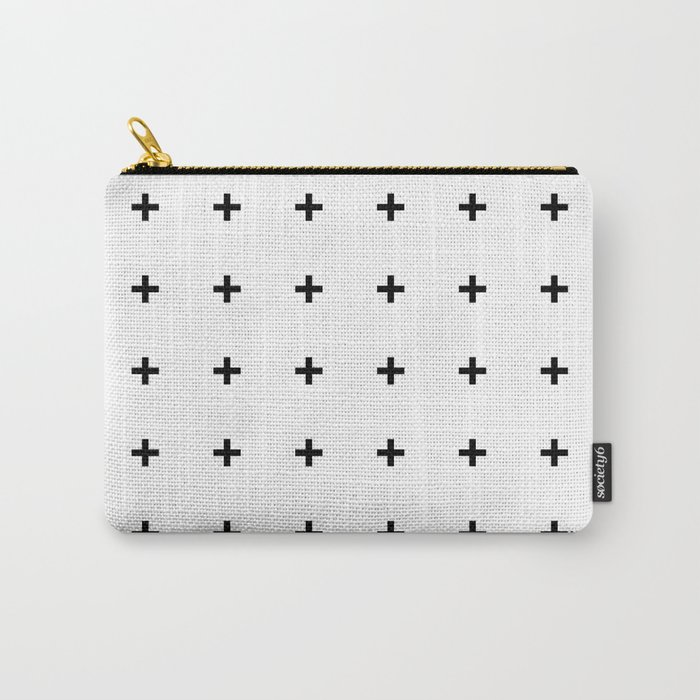 Black Plus on White /// www.pencilmeinstationery.com Carry-All Pouch