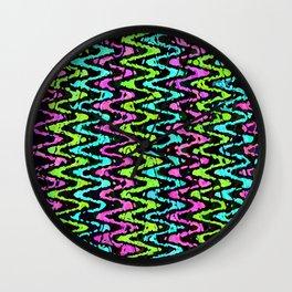Wavy Neon Wall Clock