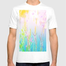 Differend Grasses White Mens Fitted Tee MEDIUM