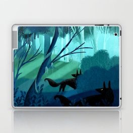 Shadow Wolves Stalk The Silver Wood Laptop & iPad Skin