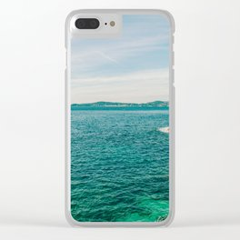 Seacoast of Cap d'Ail in a sunny winter day Clear iPhone Case