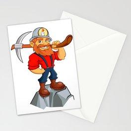 Prospector cartoon,miner funny Stationery Cards