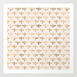 Honey Bees (Sand) Art Print