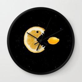 Funny Lemon Eats lemon Wall Clock