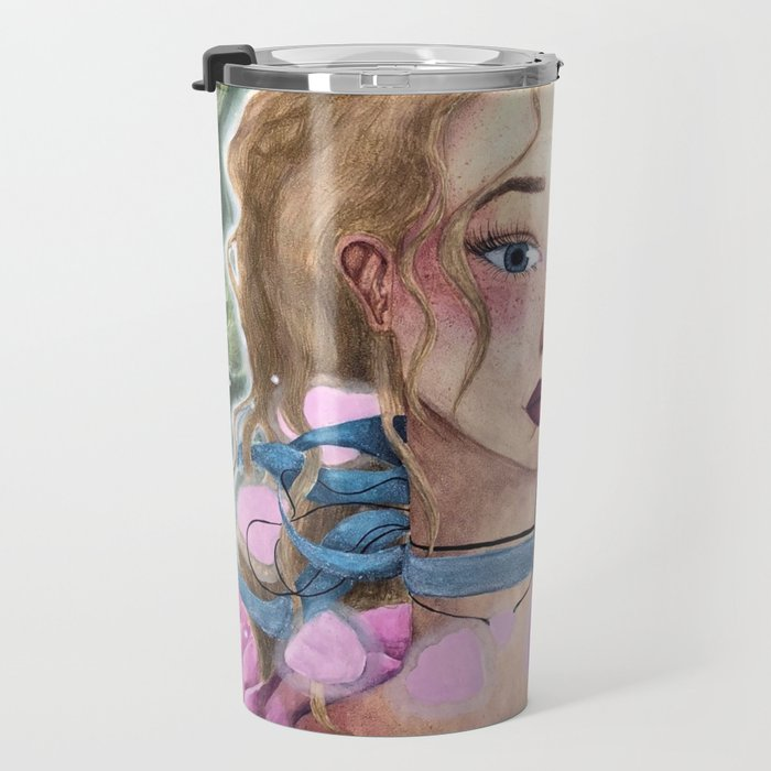 Rosy Rose Travel Mug