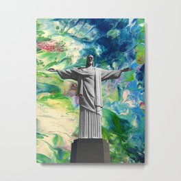 Christ Jesus Redeemer Metal Print