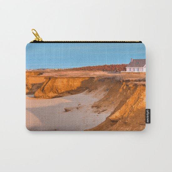 Thunder Cove Beach Cliffs - Golden Pastel Hour Carry-All Pouch