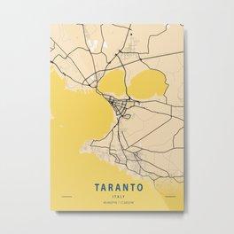 Taranto Yellow City Map Metal Print