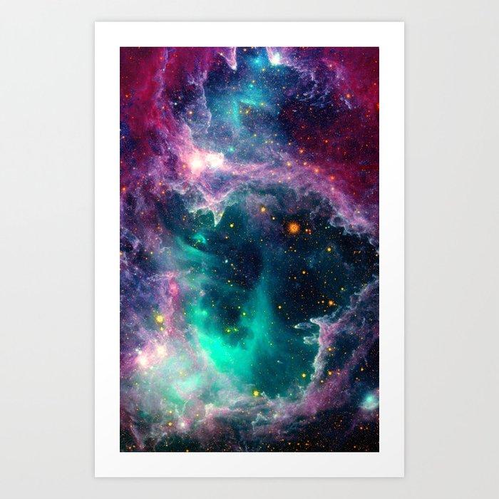 Pillars of Star Formation Art Print