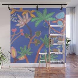 Jungle Klein Blue Wall Mural