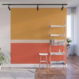 Golden Summer Color Block Wall Mural
