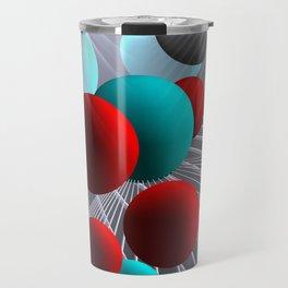 crazy lines and balls -21- Travel Mug