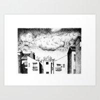 buildings Art Prints featuring Buildings by Giuseppe Vassallo