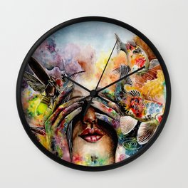 She lived with her head in the clouds... Wall Clock