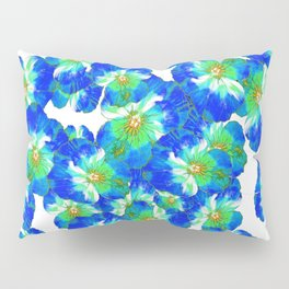 Spring  Blue Pansies Garden Abstract Pillow Sham