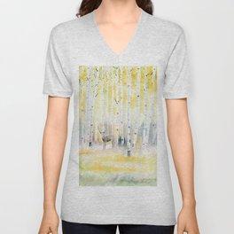 Birch Forest In The Morning Unisex V-Neck