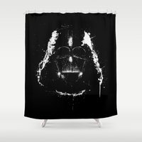 vader Shower Curtains featuring Vader by Purple Cactus