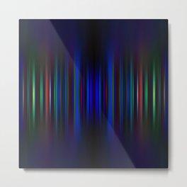 Blue and green blurred stripes pattern Metal Print
