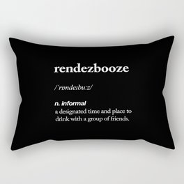 Rendezbooze black and white contemporary minimalism typography design home wall decor black-white Rectangular Pillow