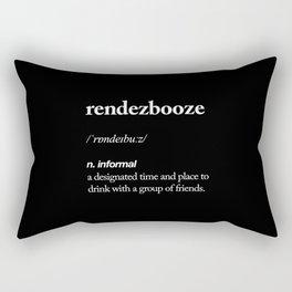 Rendezbooze black and white contemporary minimalism typography design home wall decor black-white Rectangular Pillow