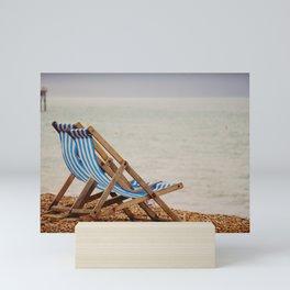 Seaside Deck Chairs Mini Art Print