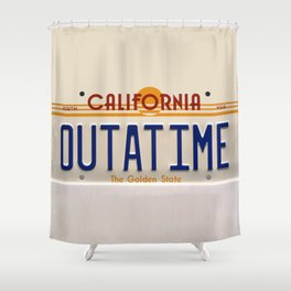 California Out A Time Shower Curtain