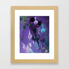 Alice in Wonderland Composite- Curiouser and Curiouser Framed Art Print