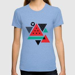 Watermelon Geometic Triangles T-shirt