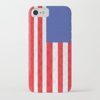 matty healy iPhone & iPod Cases featuring Zentangle American Flag by Gabrielle Healy by BHHS Graphic Design