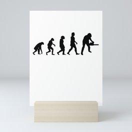Tree Cutter Evolution Forester Mini Art Print